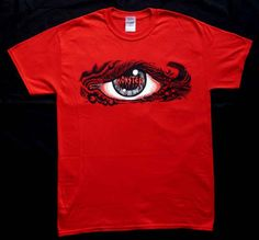 "GmNN -MONSTER T-Shirt ""The Eye"" Roskopp Tribute - Art by Rife - Colour: Bloody Red -Size: S,M,L,XL   - 30.00 EURO COMPRESO SPEDIZIONE -"