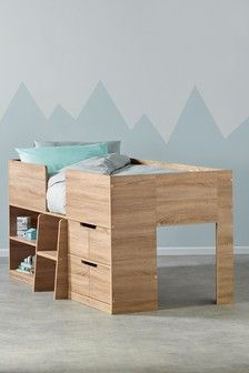 Buy Compton Cabin Bed from the Next UK online shop Cabin Beds For Kids, Kids Bunk Beds, Wall Hanging Storage, Bed Storage, Childrens Bedroom Furniture, Kids Furniture, King Size Bunk Bed, Single Beds With Storage, Mid Sleeper Bed