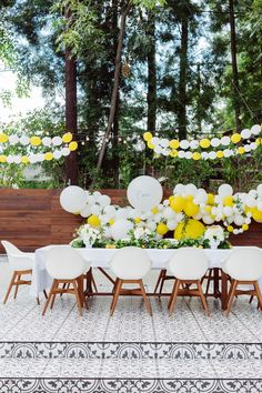 Air quotes on party because yes, it wasn't a real party. It was a fabulous Italian feast with all the people Capri knows and loves,. Yellow Birthday Parties, First Birthday Parties, Birthday Party Decorations, First Birthdays, Party Themes, Yellow Party Decorations, Party Ideas, Daisy Party, Girl First Birthday
