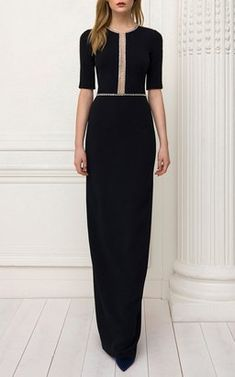 Cari Crystal Slit Gown by Jenny Packham Pre-Fall 2018 Dress Outfits, Dress Up, Cute Outfits, Simple Dresses, Elegant Dresses, Jenny Packham, Hijab Fashion, Evening Dresses, Party Dress