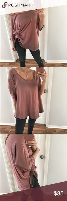 🆕Playful Mauve Dolman NWT Pretty mauve off the shoulder dolman top - just got this but it's too big on me - photos from @mrsalliexo - size medium boutique Tops