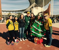 Why not dress as a Christmas tree for a December Baylor game? #SicEm