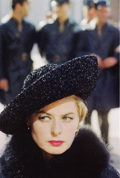 Ingrid Bergman, The Visit.......Uploaded By www.1stand2ndtimearound.etsy.com