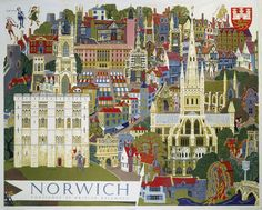 Norwich - Illustration from the Air