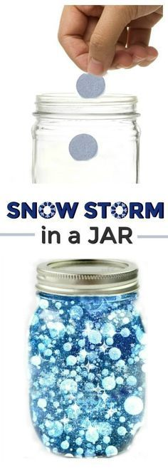 SCIENCE: Make a snow storm in a jar. How cool! (Winter science for kids) FUN SCIENCE: Make a snow storm in a jar. How cool! (Winter science for kids) Science Experiments Kids, Science For Kids, Science Ideas, Science For Preschoolers, Science Projects For Kids, Awesome Science Fair Projects, Science Toddlers, Science Chart, Summer Science