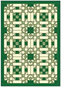 Irish Lace Quilt three basic blocks using simple elements
