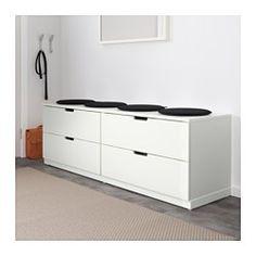IKEA - NORDLI, Kommode mit 4 Schubladen, , Kann nach Wunsch und Gegebenheiten einzeln eingesetzt oder mit mehreren kombiniert werden.Kombinationen in verschiedenen Farben zeigen den individuellen Stil.Integrierte Stopper dämpfen den Schwung beim Zuschieben und sorgen für langsames, geräuschloses Schließen der Schubladen.In den verdeckten Schienen gleiten die Schubladen sanft, auch wenn sie schwerer belastet sind.Höhenverstellbare Fußkappen sorgen für Standfestigkeit auch bei leicht unebenem…