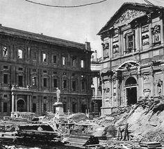 PIAZZA S. FEDELE DISTRUTTA DALLE BOMBE (MILANO)