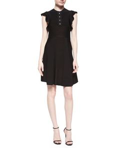 Flutter Knit Fit & Flare Dress  by RED Valentino at Neiman Marcus.