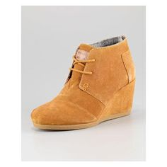 Women's TOMS Suede Lace-Up Wedge Boot