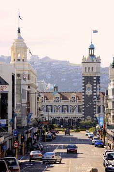 """Dunedin Railway Station in Dunedin on New Zealand's South Island, designed by George Troup, is the city's fourth station. It earned its architect the nickname of """"Gingerbread George"""". Places Around The World, Oh The Places You'll Go, Travel Around The World, Places To Travel, Places To Visit, Around The Worlds, Nz South Island, New Zealand South Island, Visit New Zealand"""
