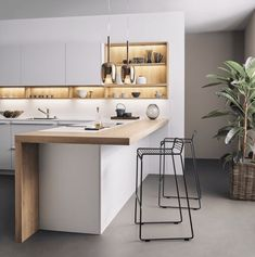 The Number One Question You Must Ask for Kitchen Images and Inspiring Design Ideas - eclarehome Kitchen Design Small, Kitchen Flooring, Kitchen Remodel, Contemporary Kitchen, Kitchen Peninsula, Home Kitchens, Modern Kitchen Design, Kitchen Style, Kitchen Renovation