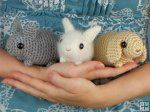Baby Bunnies - three amigurumi bunny crochet patterns