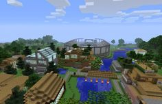 Bought the Minecraft: PlayStation 3 Edition and are looking for a specific kind of world? Well look no further as we have the best seeds on tap just for you. Minecraft School, All Minecraft, Minecraft Projects, Minecraft Houses, Minecraft Ideas, Minecraft Designs, Minecraft Mountain Castle, Minecraft Seeds Pocket Edition, Xbox 360