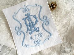 Custom Wedding Dress Label ~ Cantor Two Letter Monogram Custom Wedding Dress, Wedding Dresses, Custom Embroidery, Monogram Letters, Bridal Accessories, Applique, Lettering, Trending Outfits, Monograms