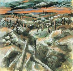 Otto Dix - Trincea, 1917 circa (2)