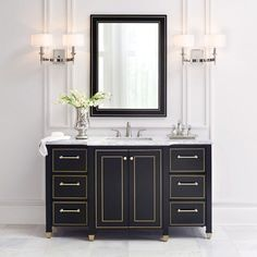 black vanity/This Home Depot Furniture Is So Chic, You'll Never Believe It's From Home Depot