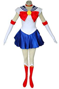 Japanese Anime Sailor Moon Cosplay Costume  Tsukino Usagi 1st Version Fighting Costume 7PCS SetXSmall >>> Check out this great product-affiliate link.