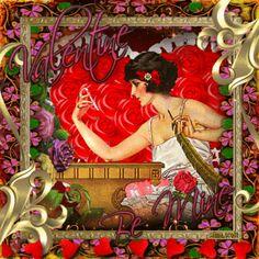 Vintage Valentine... Blingee by stina scott