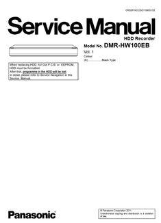 Panasonic DMR EX97 EX97EB DVD Recorder Service Manual