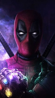 Deadpool with Infinity Stones iPhone Wallpaper Free – GetintoPik Marvel Comic Universe, Marvel Art, Marvel Dc Comics, Mcu Marvel, Deadpool Wallpaper, Marvel Wallpaper, Clock Wallpaper, Wallpaper Space, Deadpool Art
