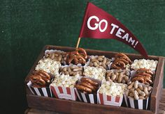 Stadium snacks for a #SuperBowl or #Football game watch party! #evitegatherings
