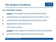 The System Conditions