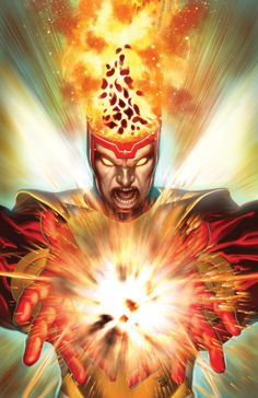 """Firestorm, one of my favorite DC Comics character. How long until they reveal that he is the guy who was dating Caitlin Snow on The Flash, and """"died"""" during the accident? Dc Heroes, Comic Book Heroes, Comic Books Art, Comic Art, Book Art, Firestorm Dc, Pin Up, Silver Age Comics, Dc Comics Characters"""
