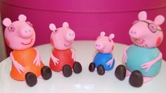 Peppa Pig Inspired Fondant Cake Toppers.