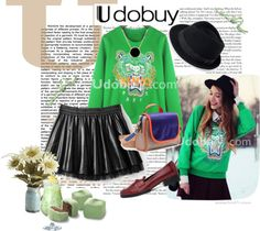 """""""Green Style of Udobuy"""" by rhondahenninger1 ❤ liked on Polyvore"""