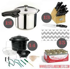 Kitchen must haves 12 - 15 (what happened to 11?)