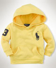 Ralph Lauren Baby Hoodie, Baby Boys Collection Fleece Big Polo Pony Hoodie - Kids Baby Boy (0-24 months) - Macy's
