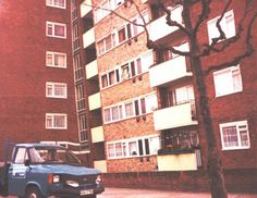 Pope House Manor Estate Anchor Street Bermondsey South East London England in February 1983 London House, East London, London England, Anchor, February, Multi Story Building, Street, Roads, Anchor Bolt