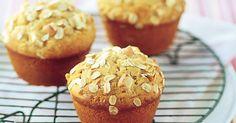 Bake up a batch of apple and oat muffins, then keep these tasty treats handy for packed lunches and after-school snacks.