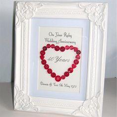 Ruby wedding anniversary gift
