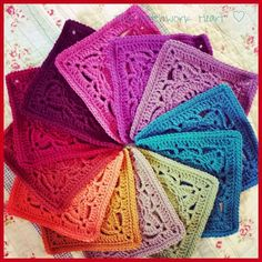Classic Rainbow ~ Stylecraft Special DK in mocha gold spice copper claret burgundy raspberry plum grape petrol teal and meadow The Patchwork Heart: Colour Recipes