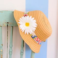 Give a plain straw hat new life with a hat band made with vintage fabrics.