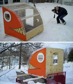 Need a hut that really kicks butt? These 10 odd ice fishing shelters add a little (sometimes a lot) of creativity to the oft-monotonous sport of ice fishing.