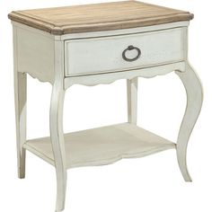£301.95 Featuring a classic design and antique white finish, this side table is perfect for your coastal scheme or French vintage look.  Pro...