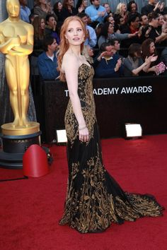 Red Carpet Project - NYTimes.com Jessica Chastain Alexander McQueen, 2012