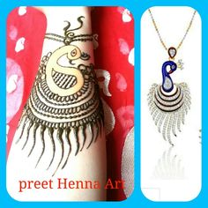 Here is my entry for round 1 of Big Henna Contest 2015.design inspired by beautiful indian peacock necklace..Please vote for me by clicking on heart ♡ and repin this post.. :)