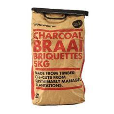 Charcoal Braai Briquettes 5Kg | Woolworths.co.za