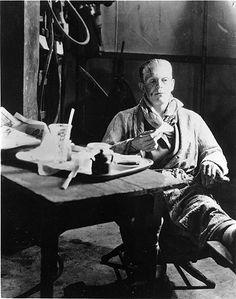 Boris Karloff BRIDE OF FRANKENSTEIN Candid Photo