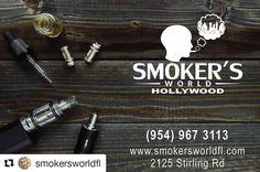Credit to @smokersworldfl  ・・・ Smokers World Of Hollywood is now open with all your smoking needs. We sell Hookahs, Tobacco, Vapes, Rolling Paper, Lighters, Grinders, One Hitters, Pipes, Water Pipes, Bubblers, Kraton, Dry / Herb E-Pens, Incenses, Trays, Cigars, E-Liquids, CDB, Rolling Machines, Hookah Accessories, Containers & More… WE DELIVER!!! Call us now!!! or visit our web! you can chat to one of us!! SMOKERSWORLDFL.COM 2125 STIRLING RD, FT LAUDERDALE FL 33312 ☀ ☀ ☀ #HollywoodTapFL…