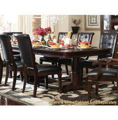 Whitney double pedestal table