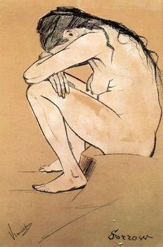 Sorrow by Vincent van Gogh #art
