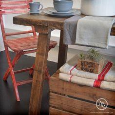 Antique Butcher's table by Atelier Autêntico | Mesa de jantar rústica de Atelier Autêntico