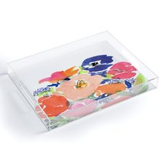 Watercolor Designed Acrylic Trays | Laura Trevey Home Decor Beautiful Houses Interior, Beautiful Homes, Watercolor Design, Home Bedroom, Trays, Interiors, Floral, Inspiration, Home Decor