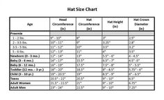 Hat size chart - this one includes handy, easier-to-measure diameter measurements along with corresponding circumferences. I find that the circumference changes from the round in which I stop increasing to the round in which I continue without increasing, so I hope this proves useful.
