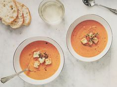 Roasted Red Pepper & Carrot Soup Recipe (Love & Lemons)